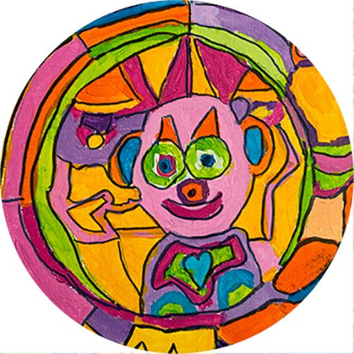 Ronde kaart Clown
